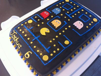 Marvelous Pac Man Party If The Oven Mitt Fits Funny Birthday Cards Online Alyptdamsfinfo