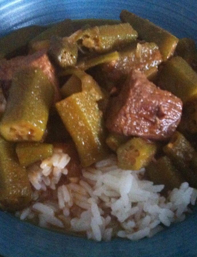 Bamia (Egyptian Beef and okra stew)