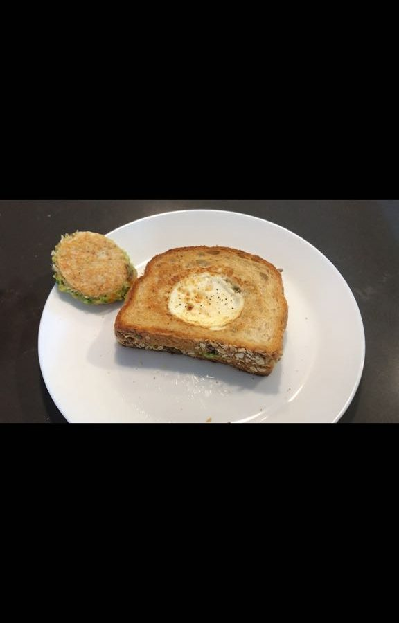 Toad-in-the-hole Grilled Cheese