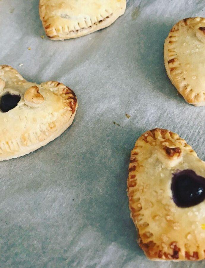 Mini Blueberry Hand Pie Hearts