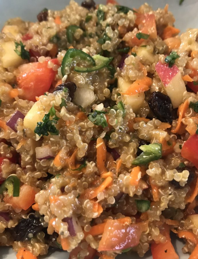 Cumin-Scented Apple Walnut Quinoa Salad