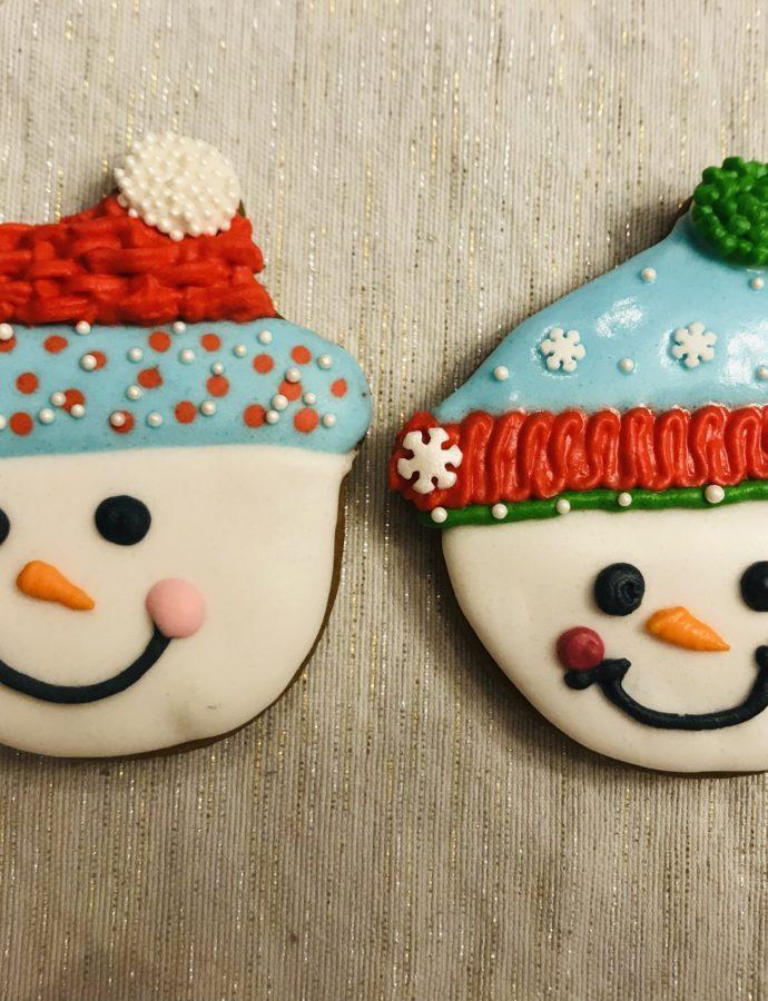 Snowman Face Cookies!