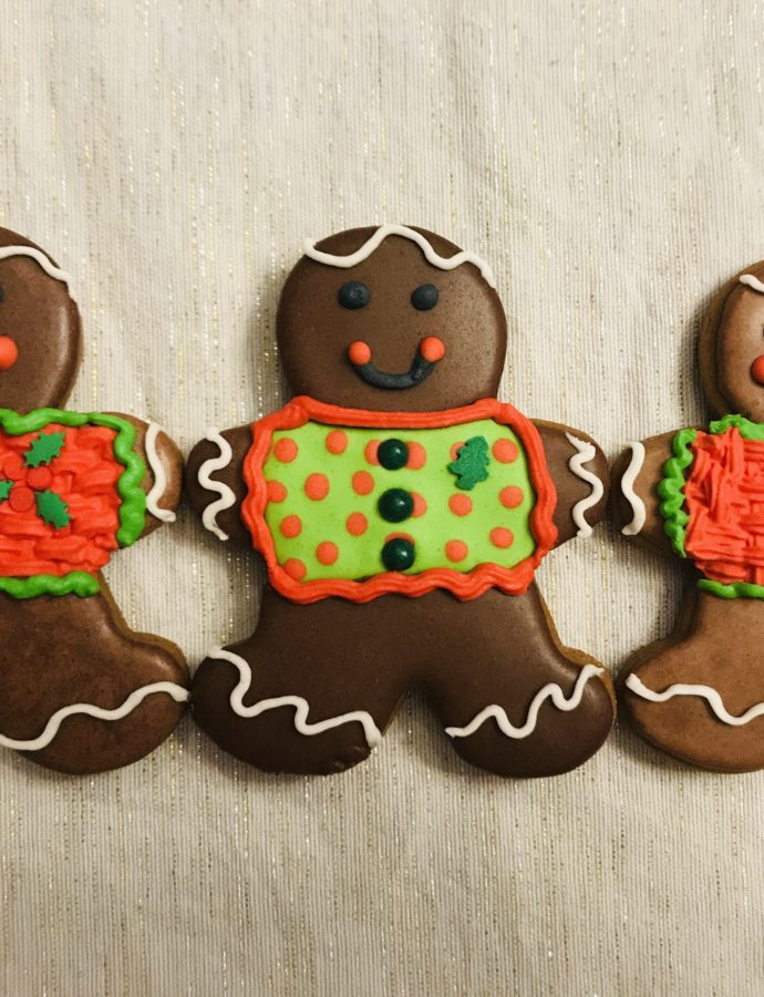 Iced Gingerbread Men Cookies